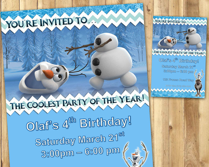 olaf birthday invitations download edit customize print olaf frozen birthday invitations olaf invitation olaf invite frozen invite