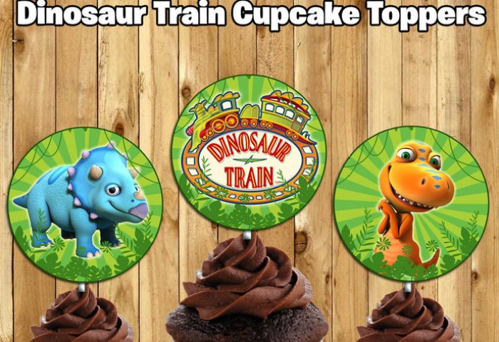 Dinosaur Train Inspired Cupcake Toppers By Instbirthday On Zibbet
