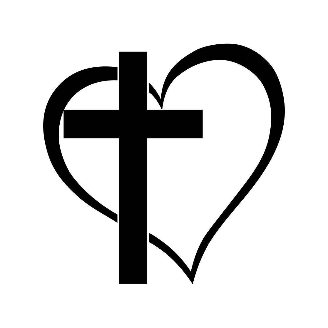 Download Cross Heart Jesus God Heart Love graphics by vectordesign ...