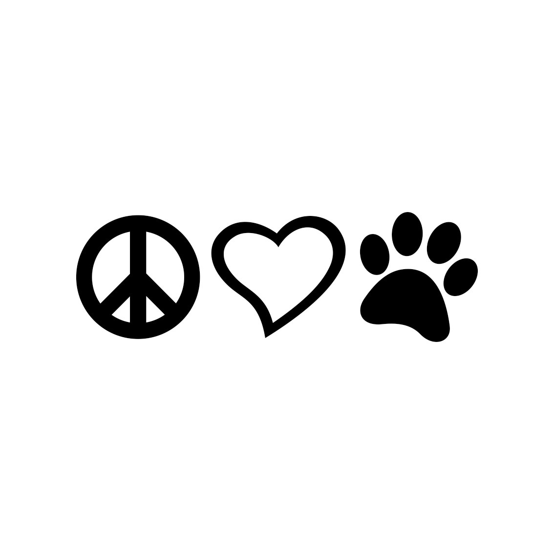 Download Peace Love Paw graphics design SVG DXF EPS | vectordesign
