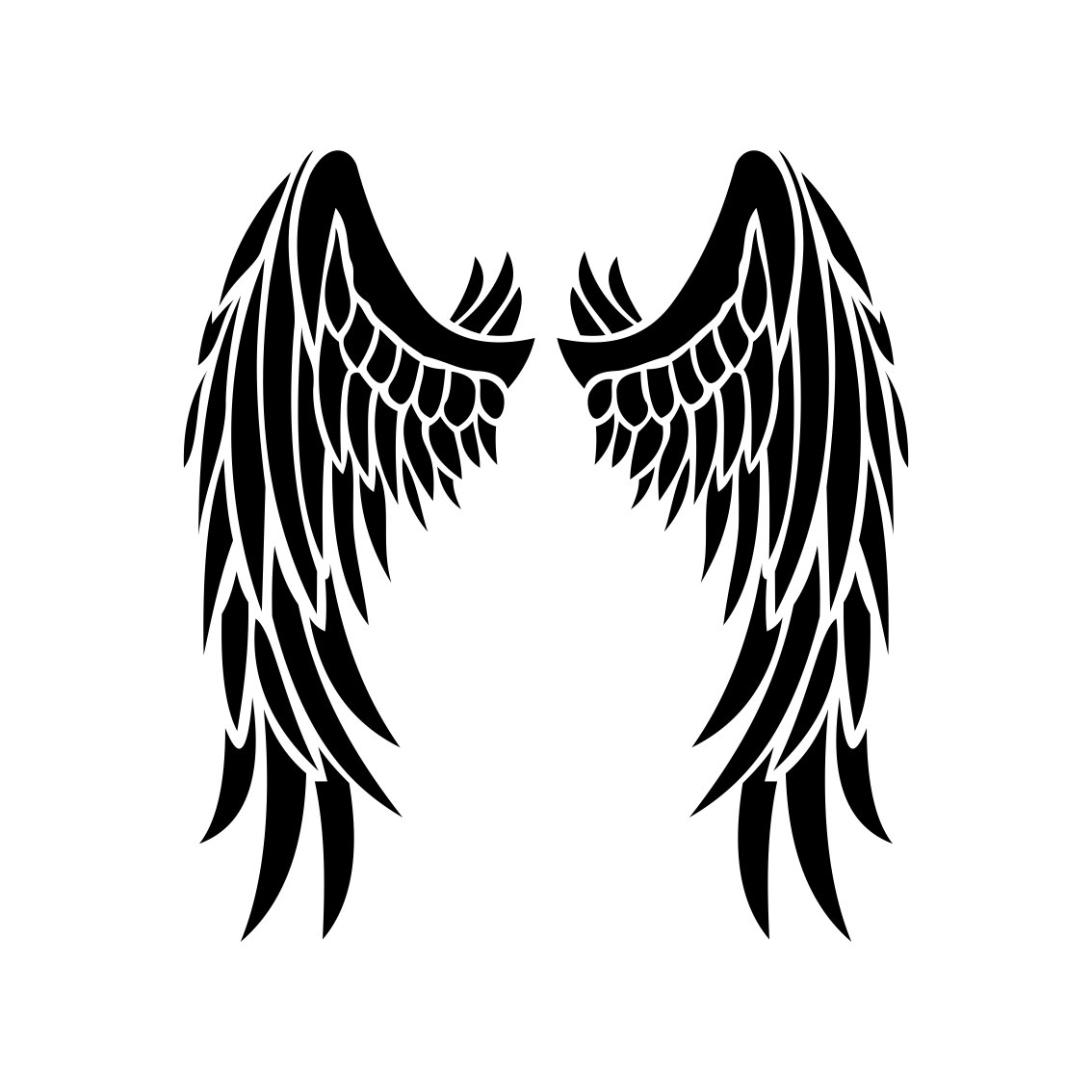 Angel Wings Graphics Design Svg Eps Dxf By