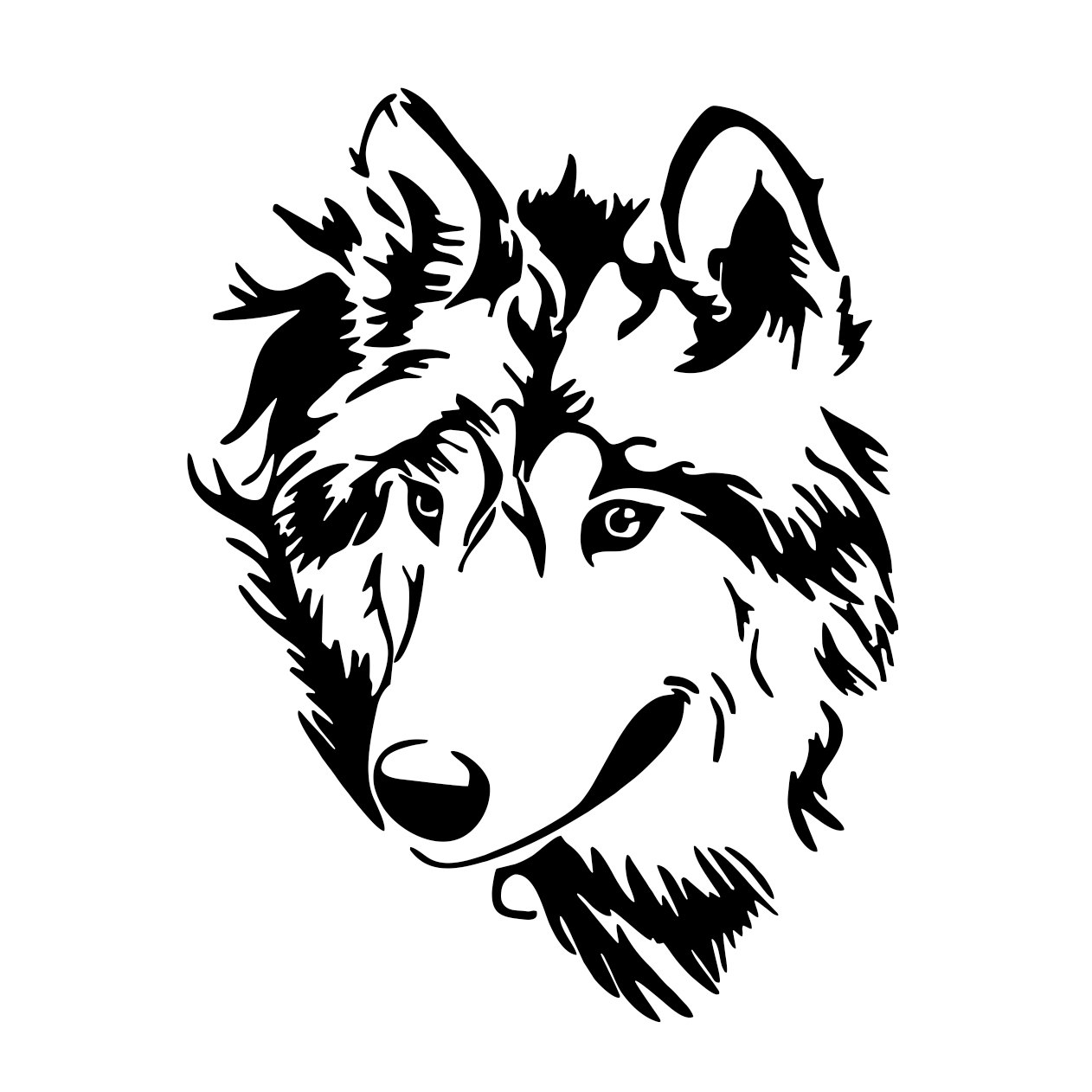 Wolf Head Wild Graphics Design Svg Dxf Eps By Vectordesign