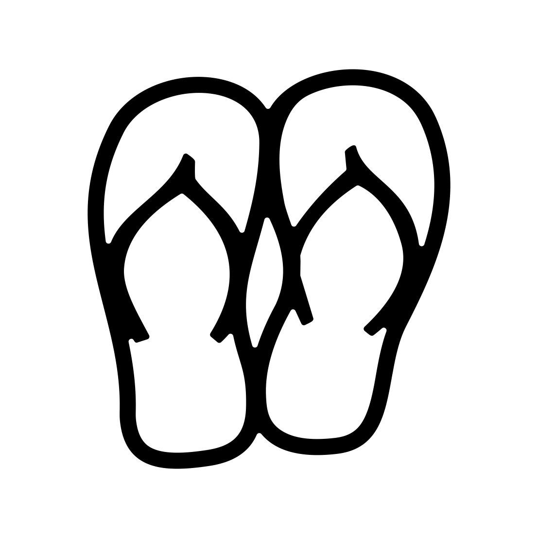 Flip Flops Beach Yeti Vacation Sandals