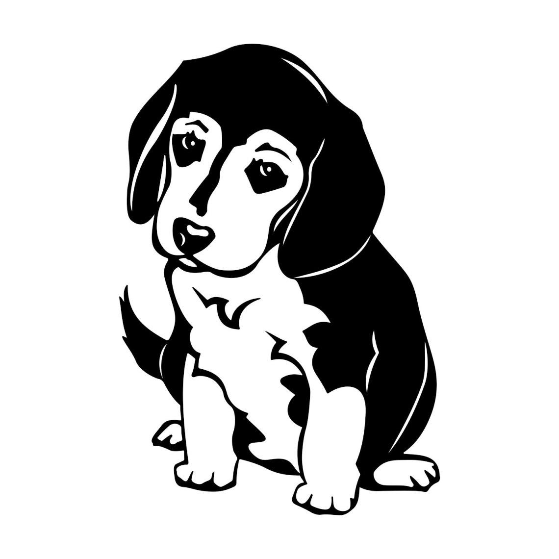 Beagle Dog graphics design SVG, DXF, EPS, by vectordesign ...