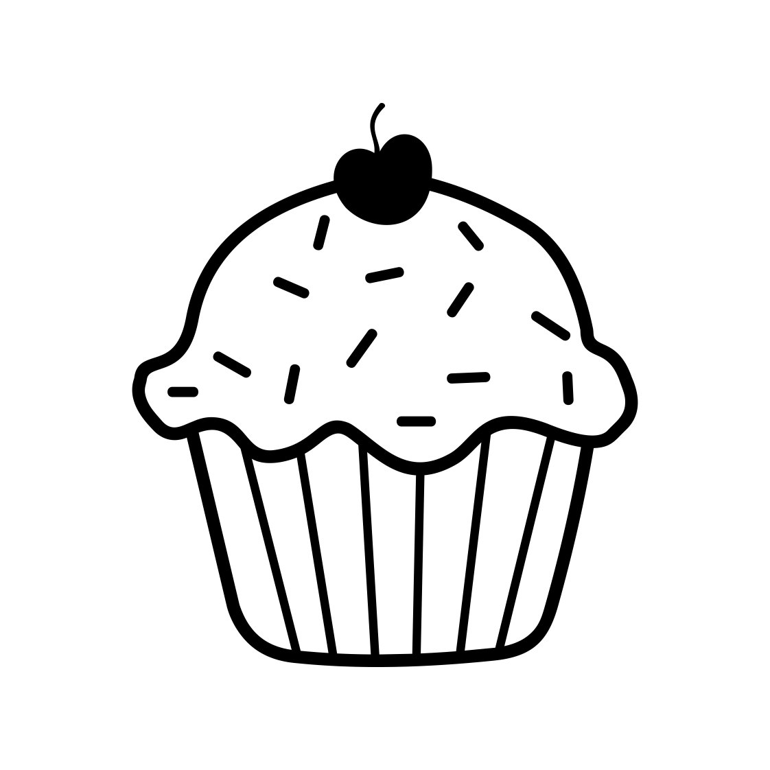 Cherry Cupcake Cute Bake Party Birthday