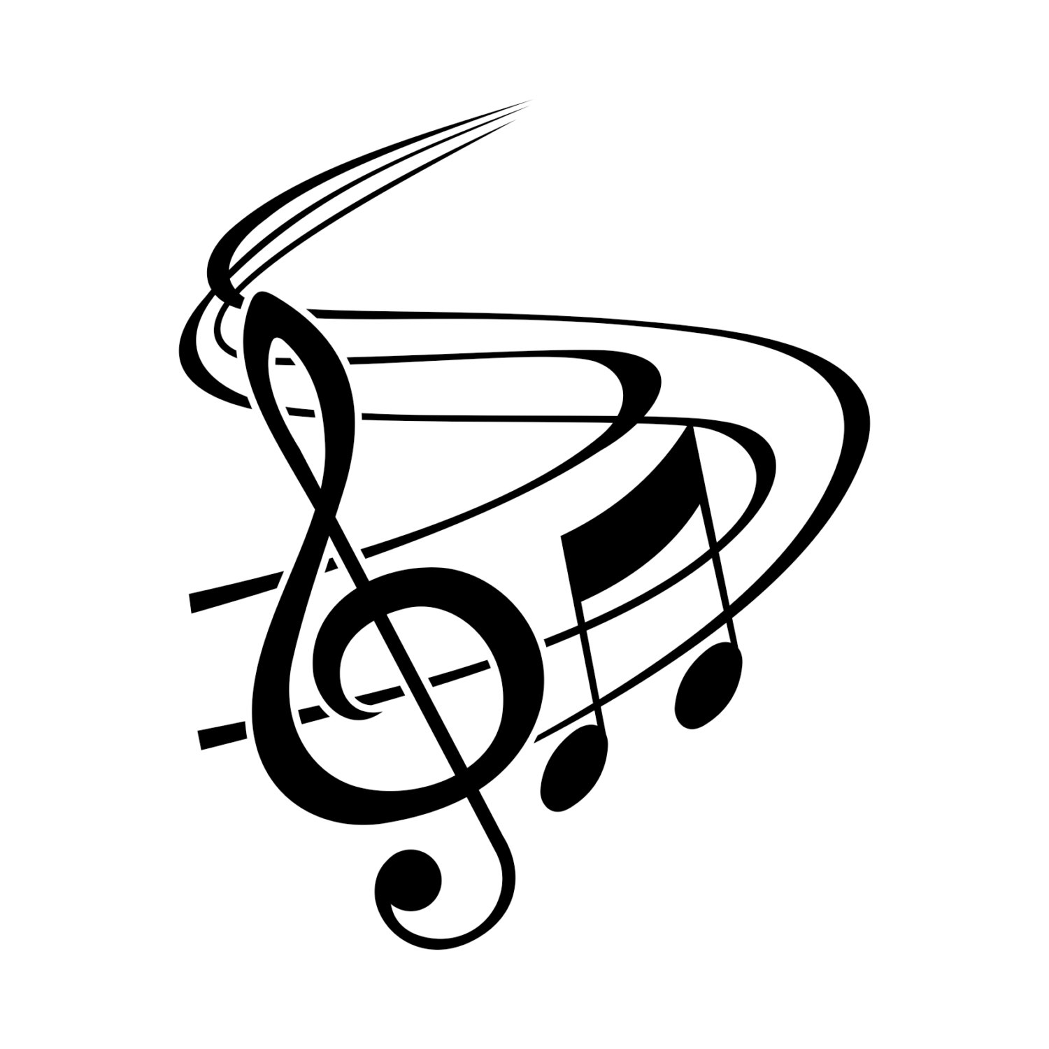 Classic Music Notes With Treble Clef Graphics By