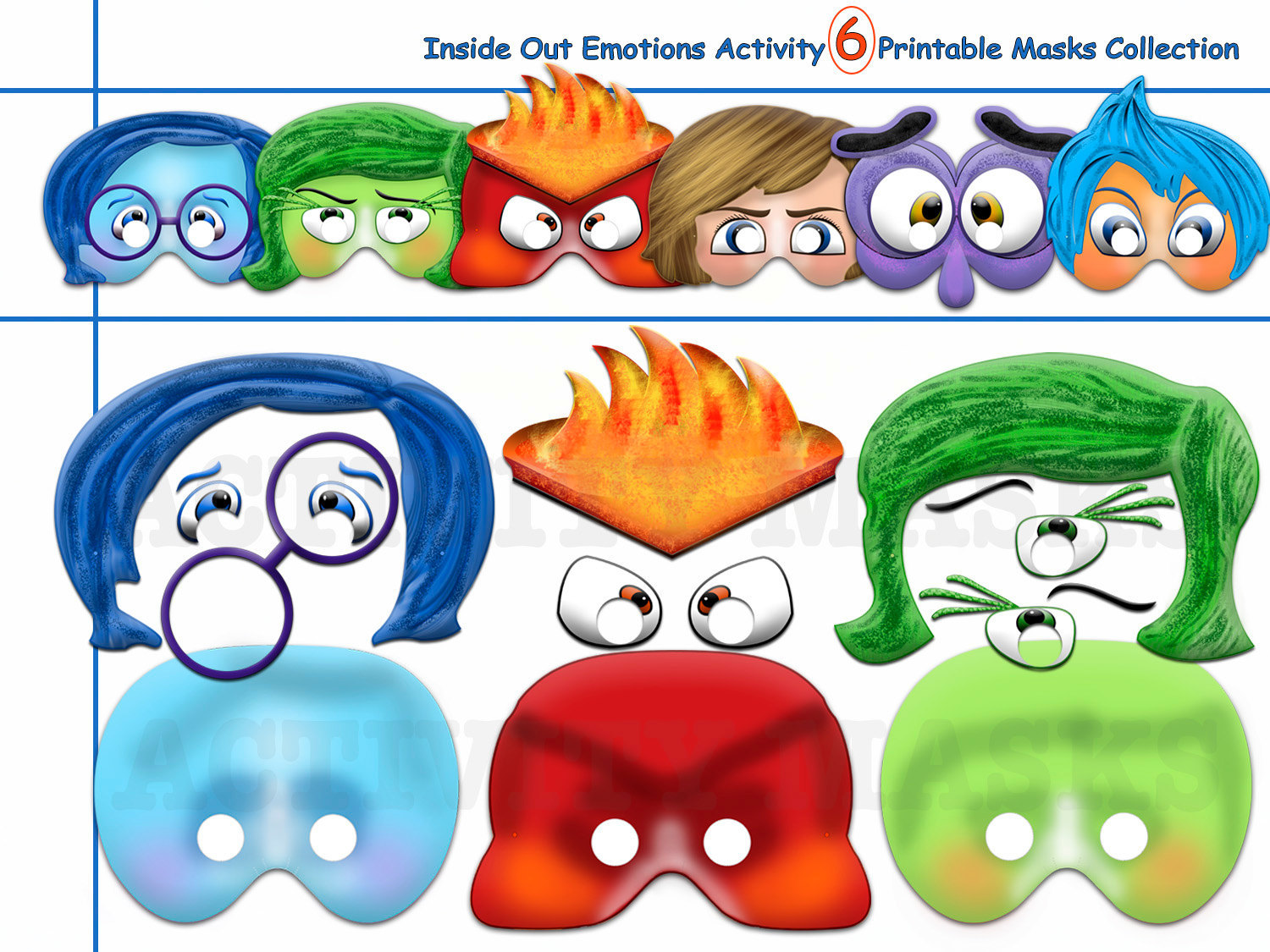 Unique Activity Inside Out Emotions 6 By Holidaypartystar