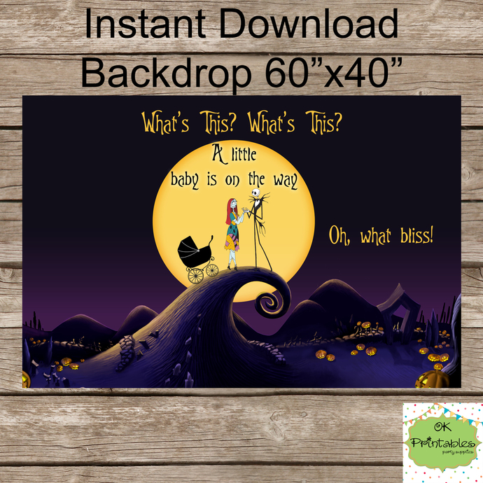 Nightmare Before Christmas BABY SHOWER By Okprintables On