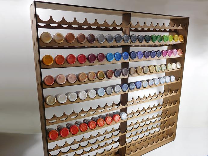 180 dropper bottle vertical paint storage rack
