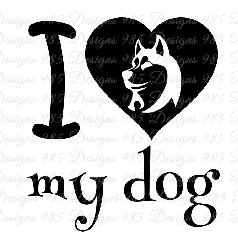 Download I love (heart) my dog SVG for Cricut by 985 Graphic ...