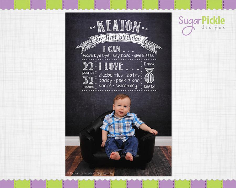 birthday chalkboard template birthday overlay first birthday poster template birthday details overlay photography prop