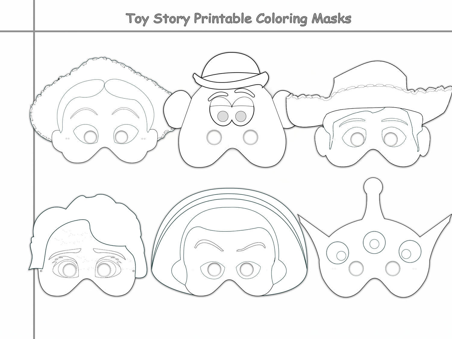 Toys Printable Coloring Masks Toy Mask By