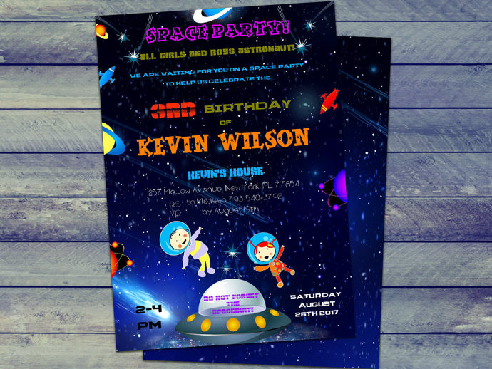 space invitations instant download editable file space birthday party outer space invite personalize at home with now adobe reader