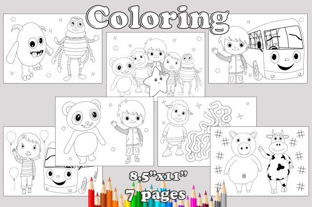 Coloring pages Birthday Party favor, by MagianRainbow on Zibbet