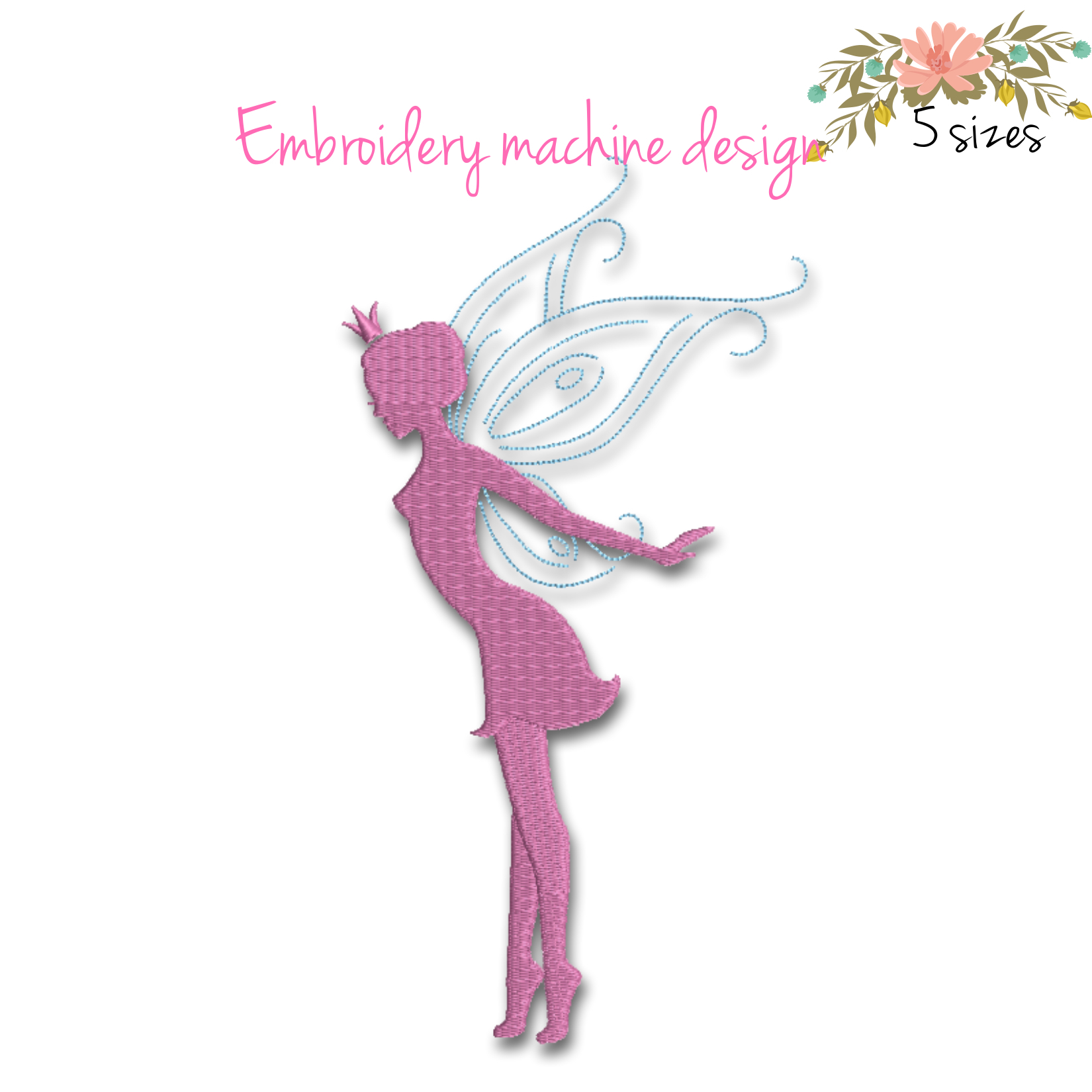Fairy Embroidery Machine Designs Pixie By Gretaembroidery