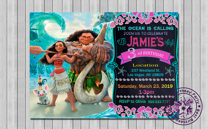 moana invitation moana invites moana birthday invites moana birthday invitation template moana birthday moana moana birthday invites