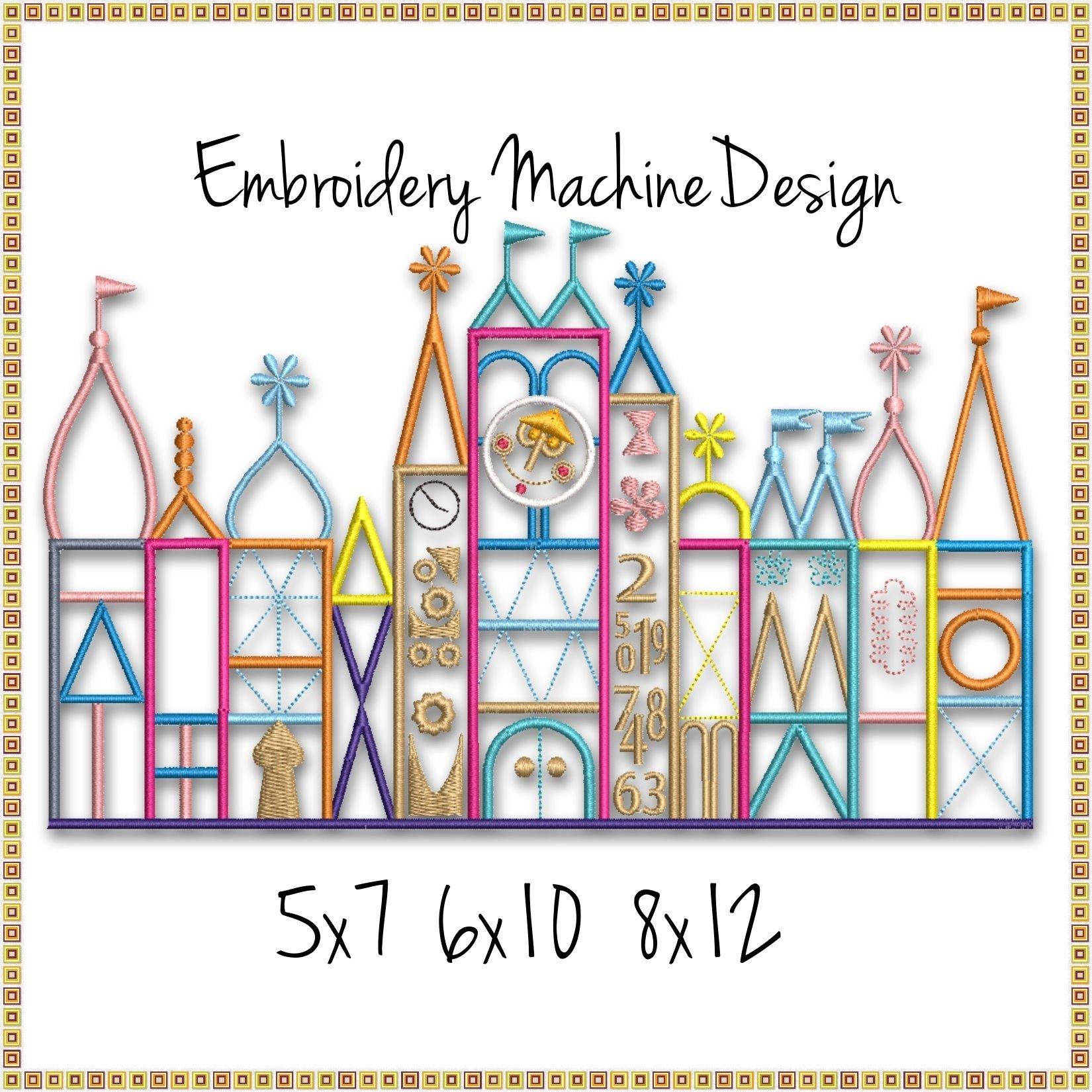 It S A Small World Ride Embroidery Machine