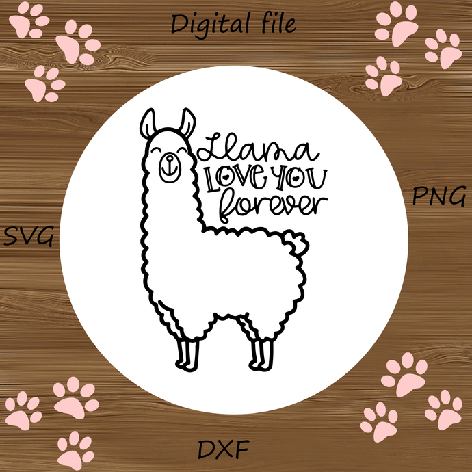 Download Llama Love You Forever SVG, Valentine's Day Cut by ...
