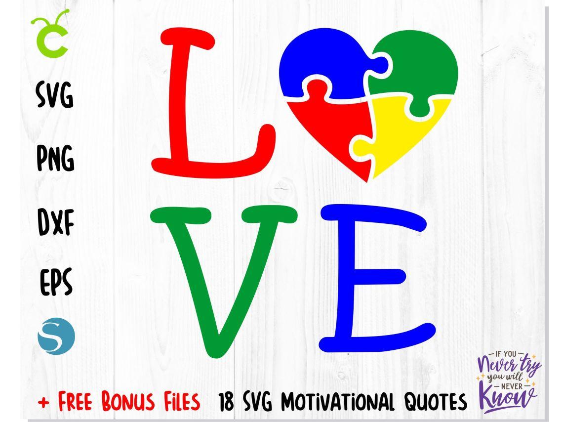 Download AUTISM SVG, Autism puzzle heart love SVG, by Creative ...