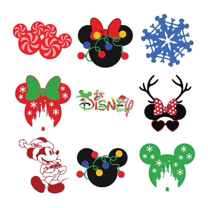 Download disney silhouette svg and use any clip art,coloring,png graphics in your website. Mickey Christmas Svg Bundle Christmas Christmas By Bellashop On Zibbet