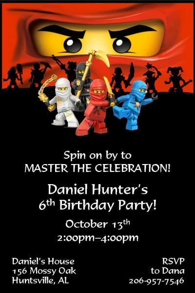 Custom Bday Invitations