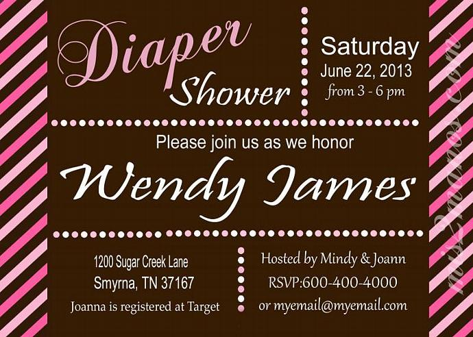 Printable Diaper Invitations
