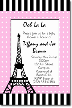 Eiffel Tower Paris Baby Shower By UPRINTinvitations On Zibbet