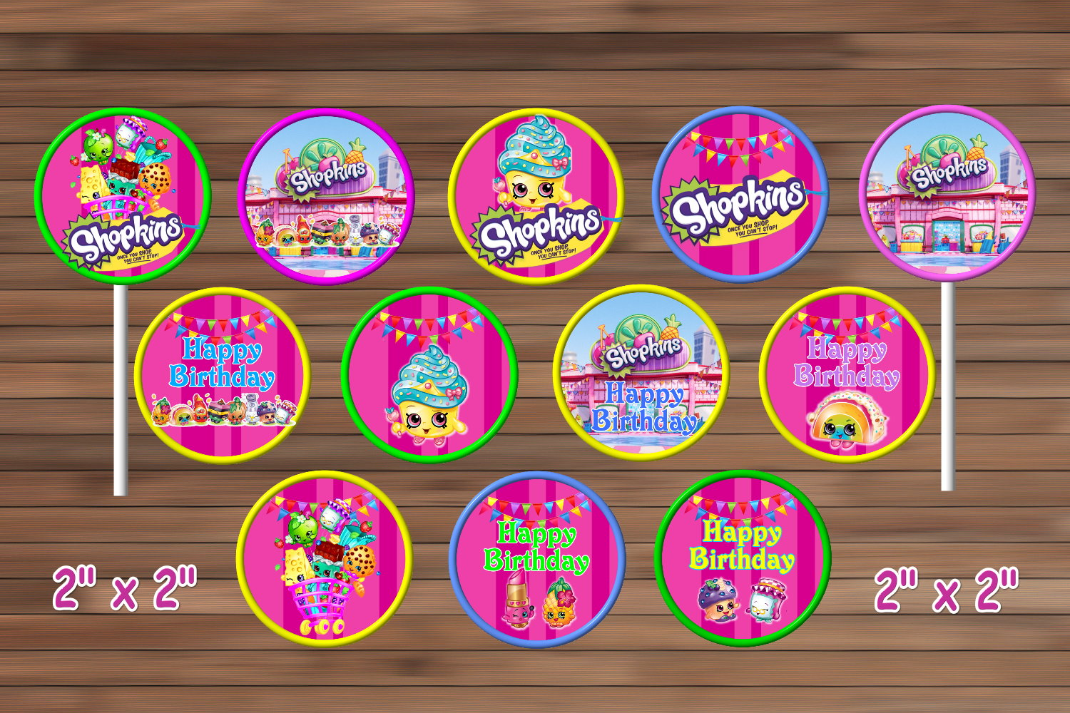 Shopkins Birthday Party Decoration Shopkins By Magianrainbow On