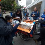 kids with book bike