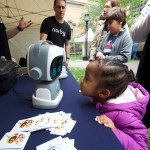 child with educational robot