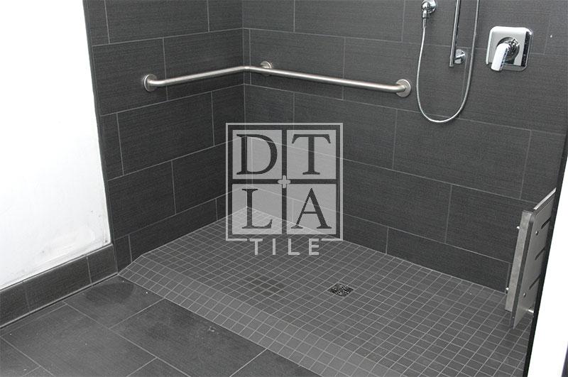 Silverlake Handicap Shower Downtown Los Angeles Tile