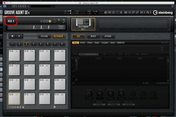 Groove Agent SE4の画面