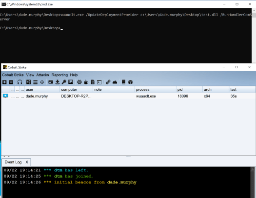 Code execution via the Windows Update client (wuauclt)