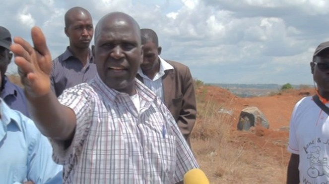 Wilson Busienei, chairman of 19 others fighting for their land rights in Eldoret, Kenya. PHOTO by Wilson Rotich