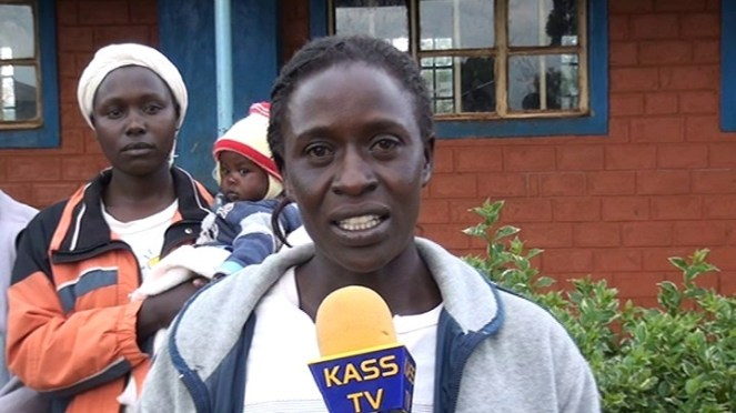 Story I - Anita Kirui a former brewer addressing the press at Eldoret. She has been brewing at least 50 liters of chang'aa  each day for the last 9 years.Picture by Wilson Rotich.