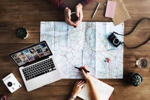 Couple Planning Trip Together