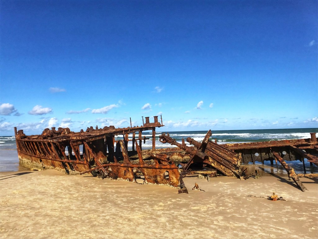 Maheno Shipwreck on Fraser Island