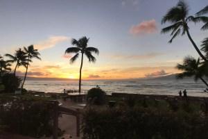 Maui Condo Exterior at Sunset