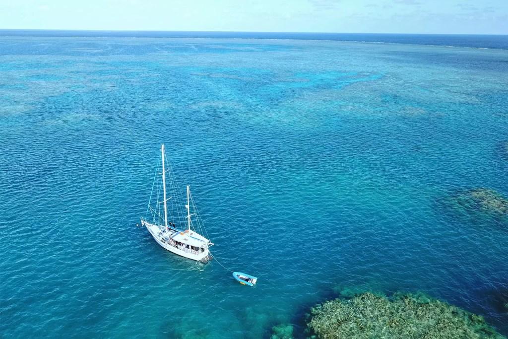 Kiana Sailboat at the Great Barrier Reef