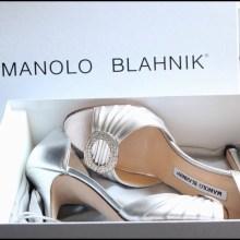 Image result for manolo blahnik silver dorsay