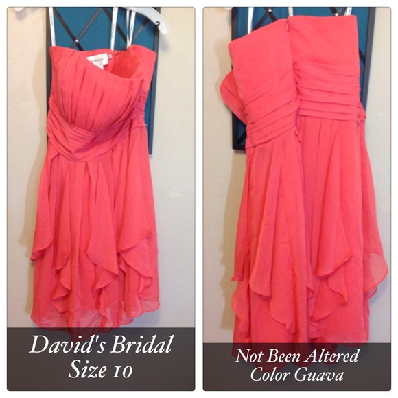 Davids Bridal Dresses   Short Crinkle Chiffon Dress   Poshmark David s Bridal Short Crinkle Chiffon Dress