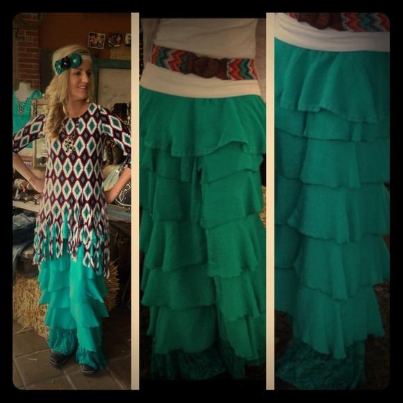 69 Off LampB Dresses Amp Skirts Ruffle Palazzo Pants From