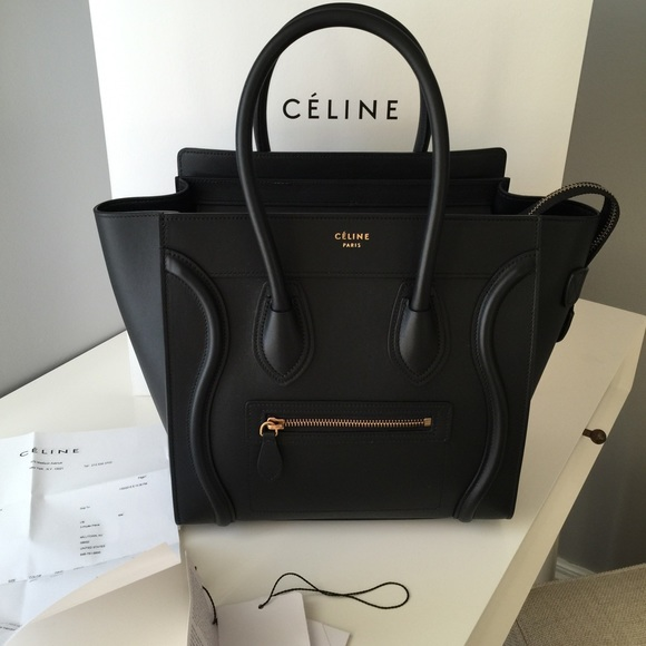 Leather Purse Black Celine