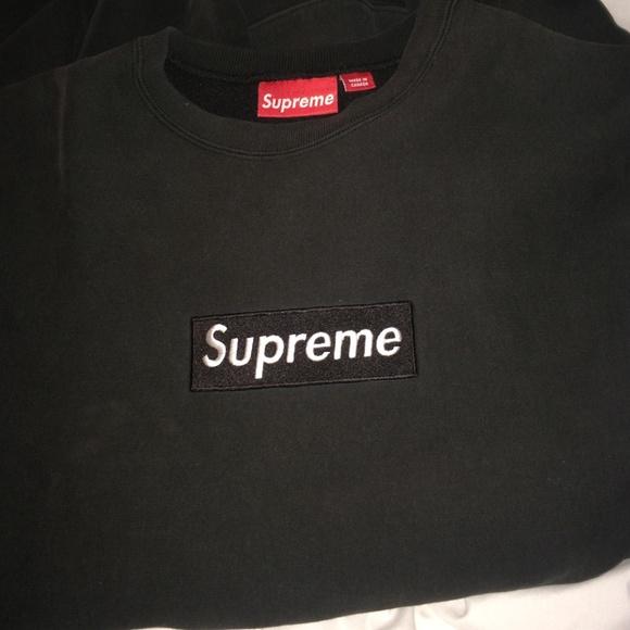 17 Off Supreme Sweaters Rare Supreme Black Box Logo