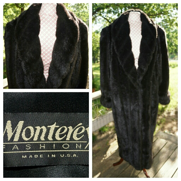 Monterey Fashions Jackets   Coats   Monterey Faux Fur Full Length     Monterey Faux fur full length Coat