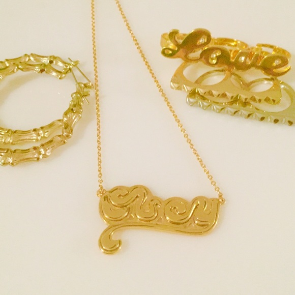 Bundle Earrings Obey Nameplate Necklace Rings