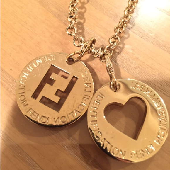 43 Off FENDI Jewelry Fendi Gold Charm Necklace From Ed