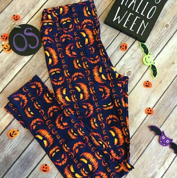 lularoe pants halloween leggings jackolantern and hhm poshmark