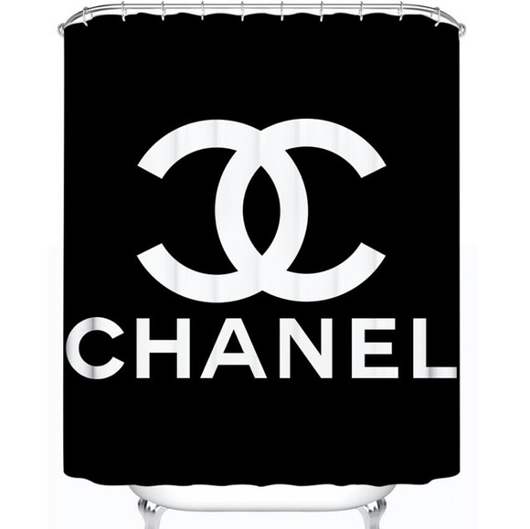 chanel shower curtain last one in black