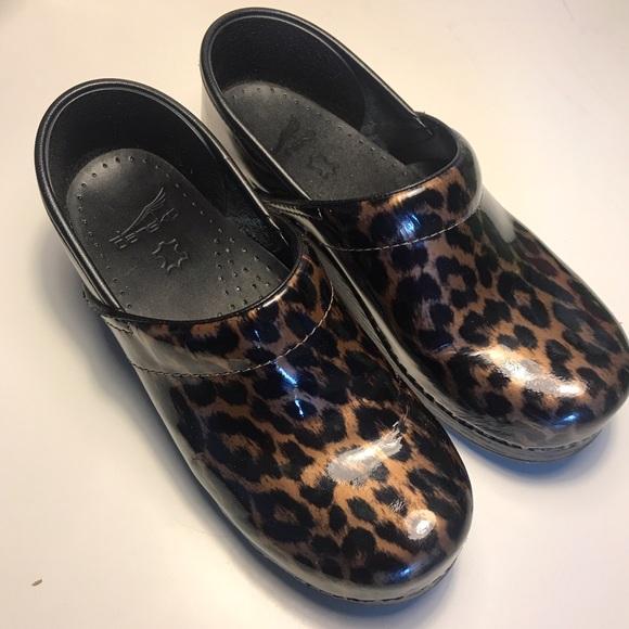 Dansko Leopard Clogs